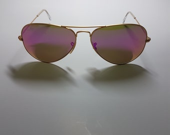 VTG Vintage Ray Ban Aviator RB3025 Pink/Purple Polarized
