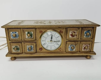 Free Shipping!! General Electric Jewelry Box Clock With Zodiac Signs