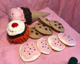 Play Felt Food Set #5 Sweet Treats