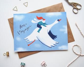 Bon Voyage Card Swanrider A5