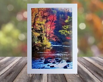 Stream in Autumn Card, Note Card, Fall Note Card, Notecards, Stream Note Cards, Stationery, Blank Cards, Cards with Envelopes, Photo Card