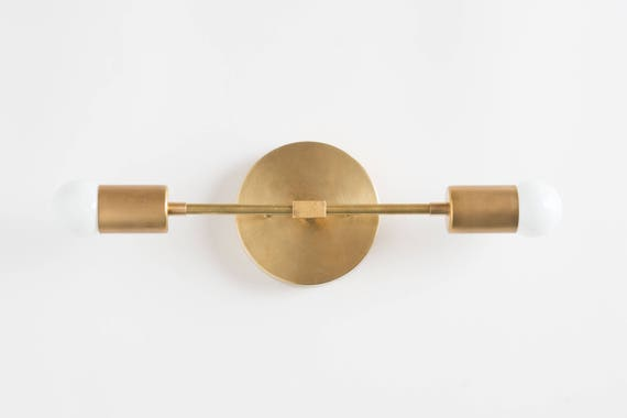 Bathroom Lights Vanity Lighting Mid Century Modern Brass