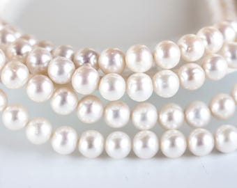 2571 Round pearls 8.5 mm Freshwater cultured pearls Natural white pearls Ivory pearls Pearl beads Natural white pearl beads 10 pcs.
