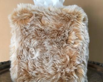 Tissavel Faux Fur Tissue Box Cover