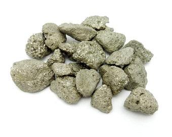 Pyrite Nuggets  --  Raw Pyrite Stones - Chakra Reiki Jewelry Supply (RK135B2)