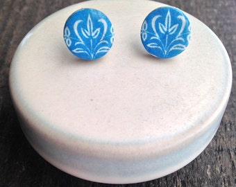 Book Cover Post Earrings l Royal Blue Earrings l Book Earrings l Blue Post Earrings l Stud Earrings