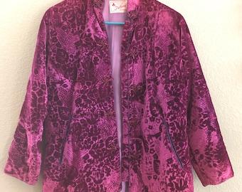 Beautiful Vintage Purple Velvet Brocade Jacket