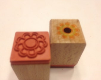 small flower rubber stamps, 16 mm (SB2/ A11)