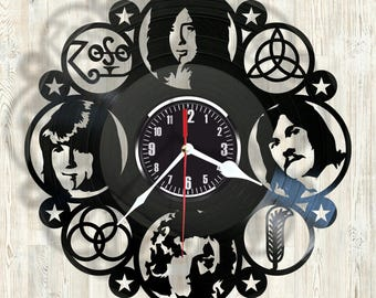 Led Zeppeling vinyl record wall clock best eco-friendly gift for any occasion