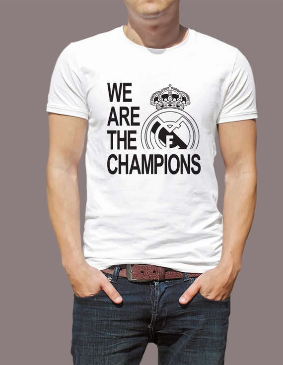 Real Madrid We Are The Champions  S-4XL And Long Sleeve Available Customizable UEFA Champions League 2017