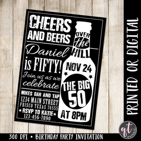 50th birthday invitations for men gallery invitation templates cheers and beers invitation 50th birthday invitation man filmwisefo filmwisefo