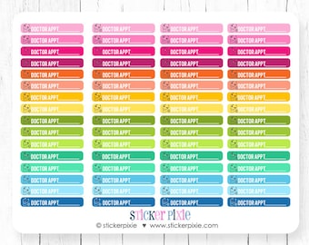 Kawaii Doctor Appointment Stickers Skinny Planner Stickers