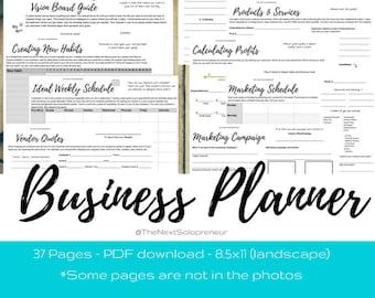 Small Business Planner, Entrepreneur Planner, Printable Business Planner, Business Planner, Business Plan, Product Planner