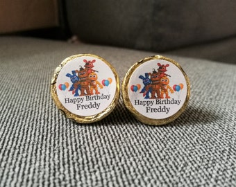 100 Personalized Five Nights at Freddy's Birthday Kiss Candy/Mini Bubbles Labels@**Peel & Stick
