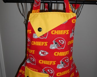 Kansas City Chiefs - Women's Apron - ruffle - pocket - Football - sports