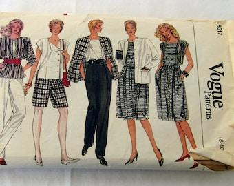 Vogue Pattern #8617 no date, sizes Misses 8-10-12