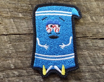 Embroidered South Park Towlie Hook and Loop Patch