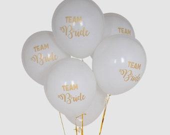 10 Ballon team bride or blanc Latex ROSE taille 12 inch evjf enterrement vie de jeune fille  amour anniversaire enfant décoration fun
