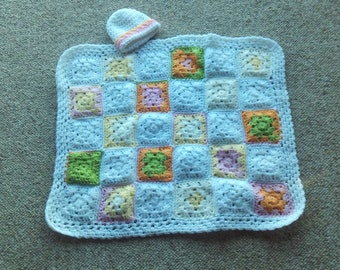 Preemie,blanket,hat,gift,shower,photo's,crocheted,orange,white,green,yellow,babies,infants
