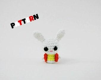 Crochet White Rabbit Pattern Amigurumi Alice in Wonderland Toy Pattern