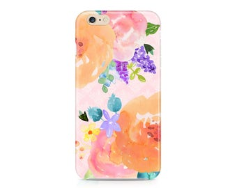 Beautiful Watercolor Flowers Phone Case - Floral Pattern Phone Case - Spring Phone Case - Roses Phone Case - iPhone 8 - Galaxy S9