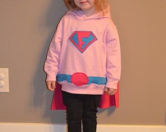 Child Dress-Up Super Hero Sweatshirt w/Cape Hoodie