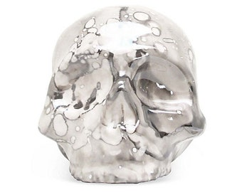 Ceramic Skull - Gray Luster