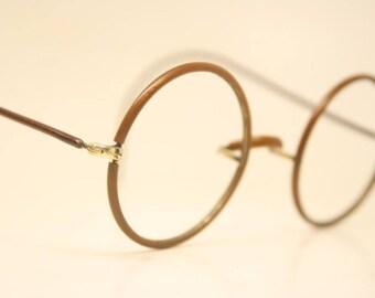Antique Zylo Windsor Style 40mm Round Eyeglasses