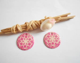 x 4 ivory pink sequins