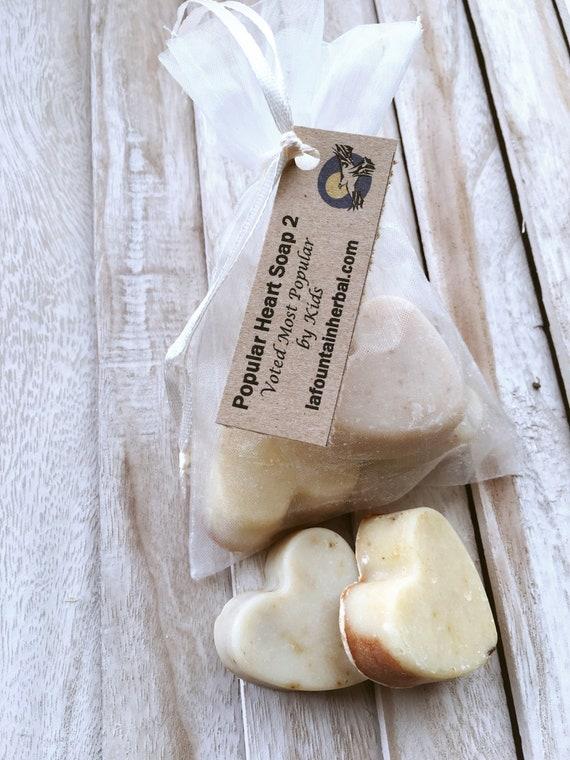 Popular Kids Soap Hearts - Kids Favorite Organic Soaps