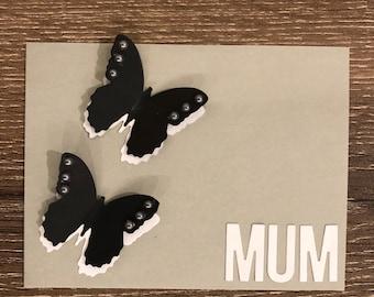 Handmade butterfly greeting card