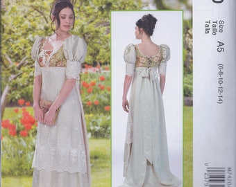 McCalls 7420 Misses Women's Regency Jane Austen Dress UNCUT Sewing Pattern