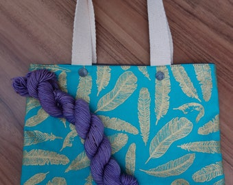 Knitting Project Bag *free sock yarn mini with purchase*