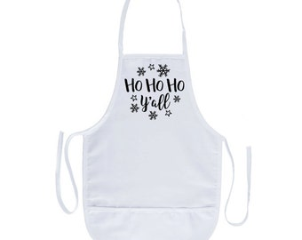 Ho Ho Ho Y'all Apron
