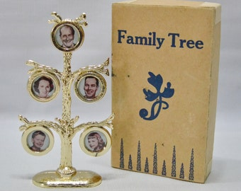 Vintage Family Tree Picture Frame - Picture Display
