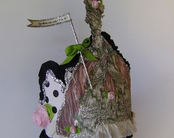 Marie Antoinette Birthday Crown - Let them eat cake, Im 40 or anything you want - customize
