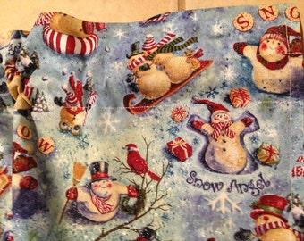 Christmas Holiday SNOWMAN Snow Angel Cardinal Curtain VALANCE Toppers Handmade