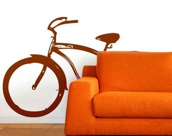 Beach Cruiser Bicycle Wall Decal