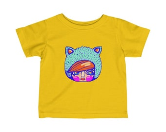 Kitty Kat By Kosharek Art Infant Tee