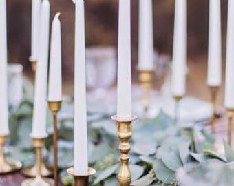 Brass Candlesticks , Brass Candle Holder , Vintage Brass , Boho Wedding Found By Foo Foo La La