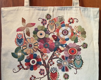 Punky Owls on Tree of Life- Tote bag