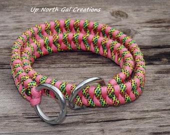 Dog Collar, Slip Collar, Choke Collar, Pet Collar, Large Dog Collar, Training Collar, Control Collar, Custom Pet Collar, Paracord Collar,