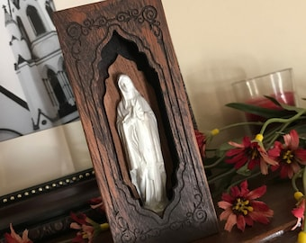 Petite Mary Prayer Box Shrine Cherry
