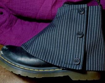 mens spats gravedigger stripe adjustable size