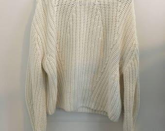 10% OFF!White vintage turtleneck sweater