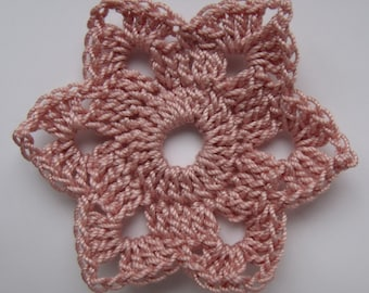 Crocheted Romantic Flower - PDF pattern