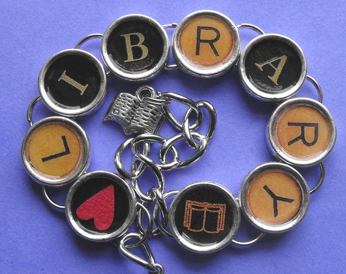 Library Love Bracelet Readers Literary Themed Jewelry Librarian Gift