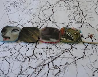 Monster Magnets Set of Five