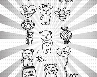 Sweet as Honey Digital Stamp Set