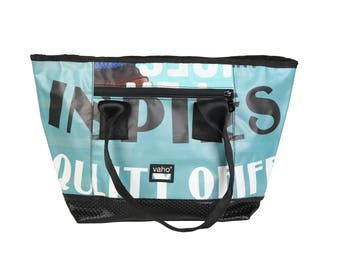 Vegan Tote bag  for Women from Billboard. Waterproof Shopping bag  from recycled advertising vinyl